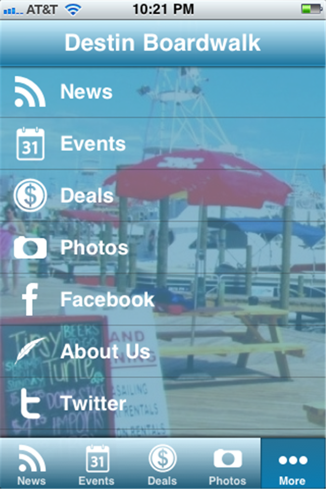 Image of Destin Boardwalk for iPhone
